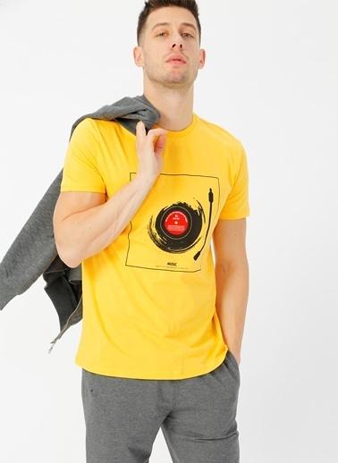 Limon Company Bisiklet Yaka Tişört Sarı